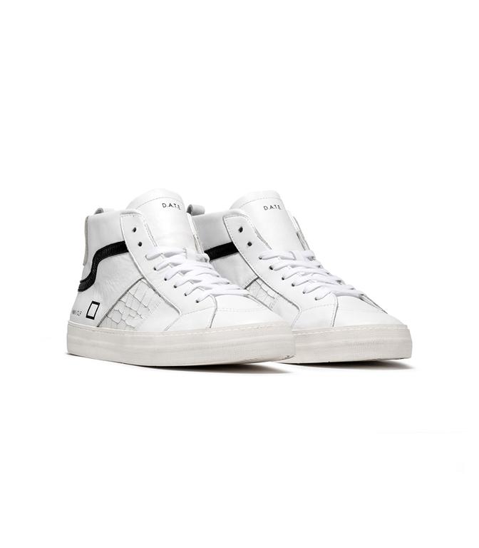 D.A.T.E. - Scarpe - Sneakers - hawk calf white black 1