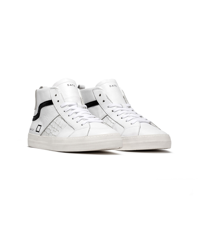 D.A.T.E. - Scarpe - Sneakers - hawk calf white black 1