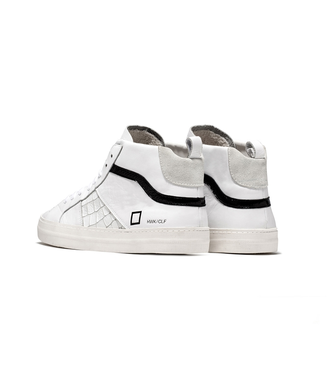 D.A.T.E. - Scarpe - Sneakers - hawk calf white black 2