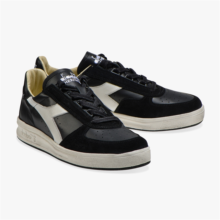 Diadora Heritage - Scarpe - Sneakers - b.elite h leather dirty nera 1