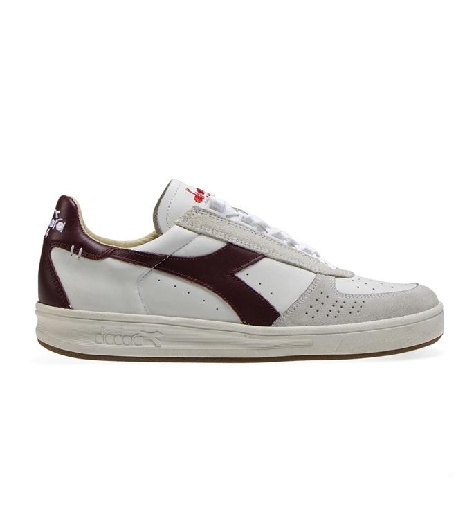 Diadora Heritage - Scarpe - Sneakers - b.elite h leather dirty bianca/viola avvento