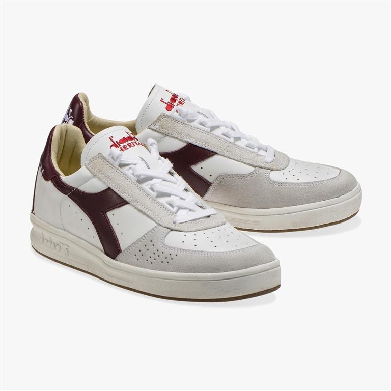 Diadora Heritage - Scarpe - Sneakers - b.elite h leather dirty bianca/viola avvento 1
