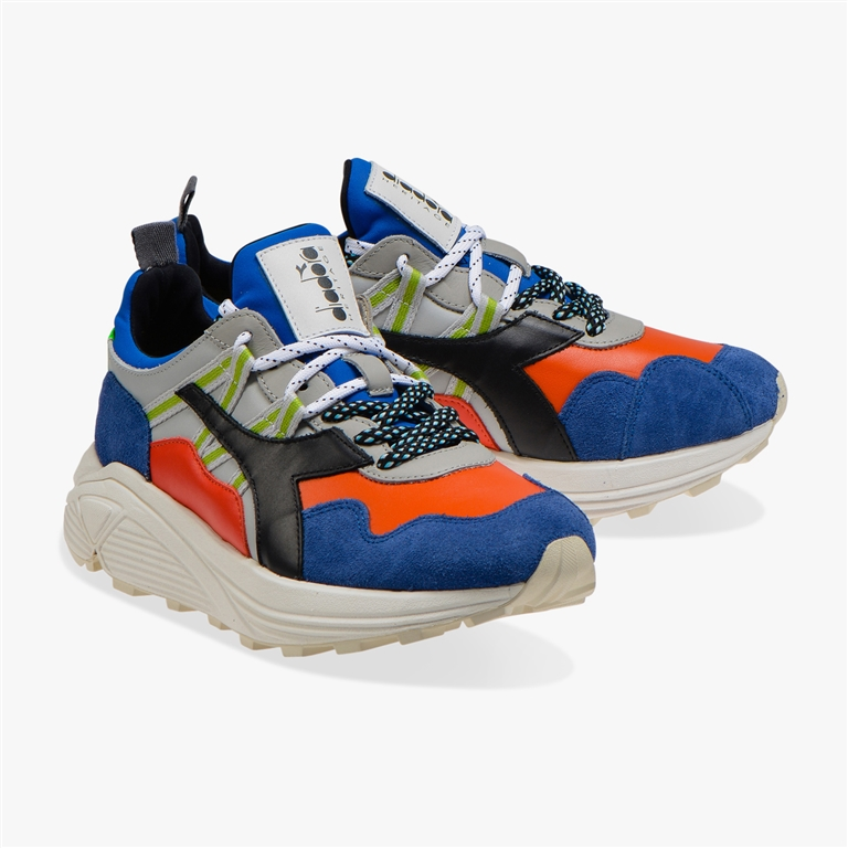 Diadora Heritage - Scarpe - Sneakers - rave leather pop blu notte 1