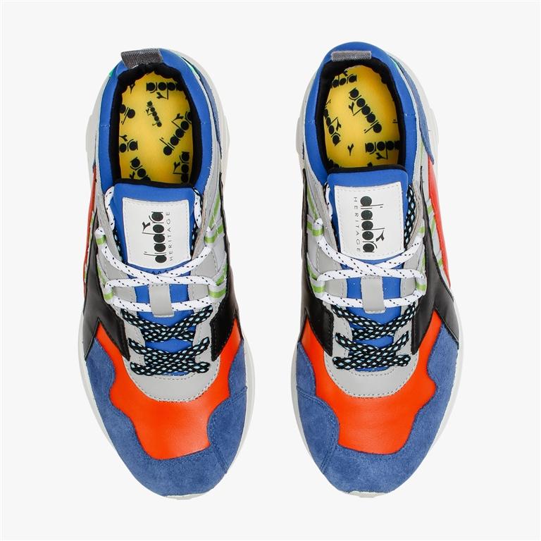 Diadora Heritage - Scarpe - Sneakers - rave leather pop blu notte 2