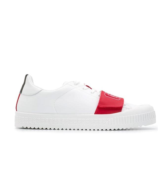 GCDS - Scarpe - Sneakers - logo sneakers white/red