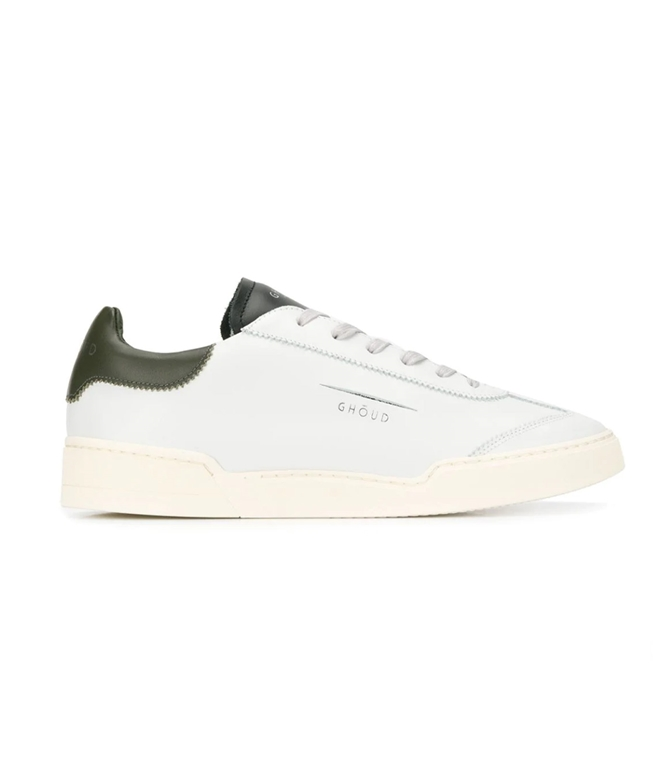 Ghoud Venice - Scarpe - Sneakers - SNEAKER IN PELLE LISCIA WHITE/MILITARY/BLACK