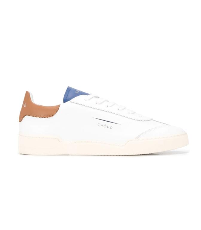 Ghoud Venice - Scarpe - Sneakers - SNEAKER IN PELLE LISCIA WHITE/COGNAC/BLU