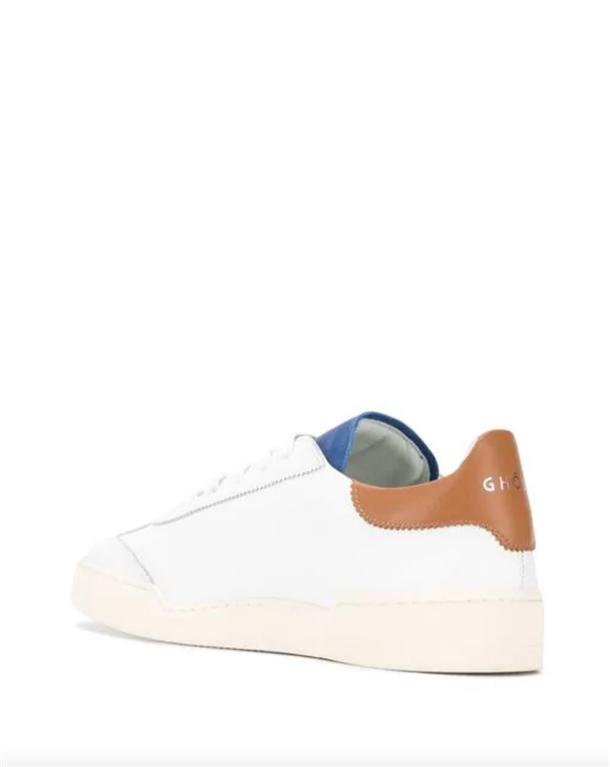 Ghoud Venice - Scarpe - Sneakers - sneaker in pelle liscia white/cognac/blu 1