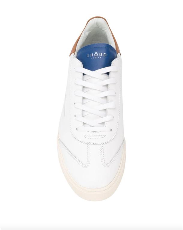 Ghoud Venice - Scarpe - Sneakers - sneaker in pelle liscia white/cognac/blu 2