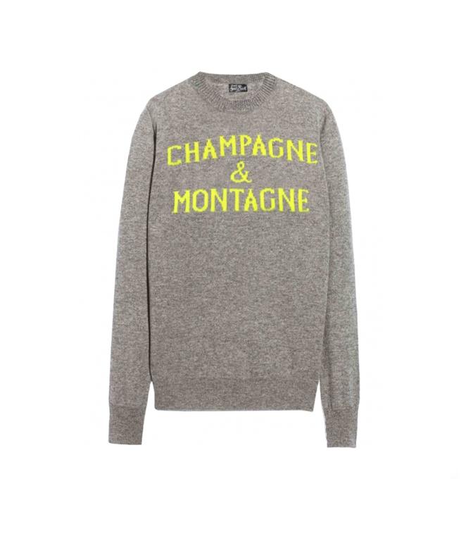 Mc2 Saint Barth - Maglie - MAGLIONE CHAMPAGNE & MONTAGNE GRIGIO