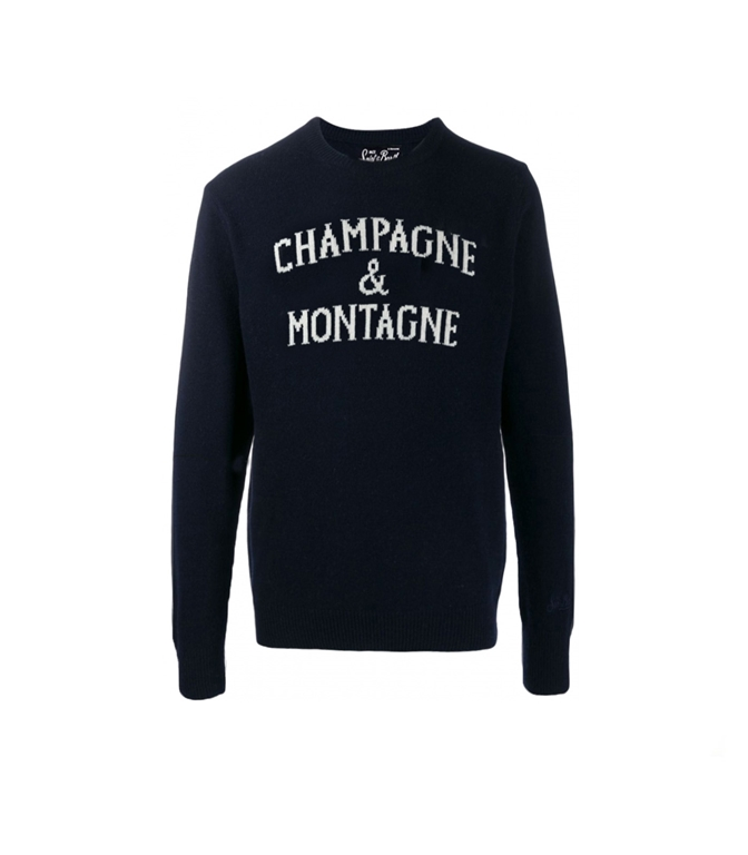 Mc2 Saint Barth - Maglie - MAGLIONE CHAMPAGNE & MONTAGNE BLU