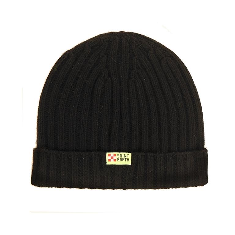 Mc2 Saint Barth - Cappelli - berretto misto cashmere ricamato off piste 1