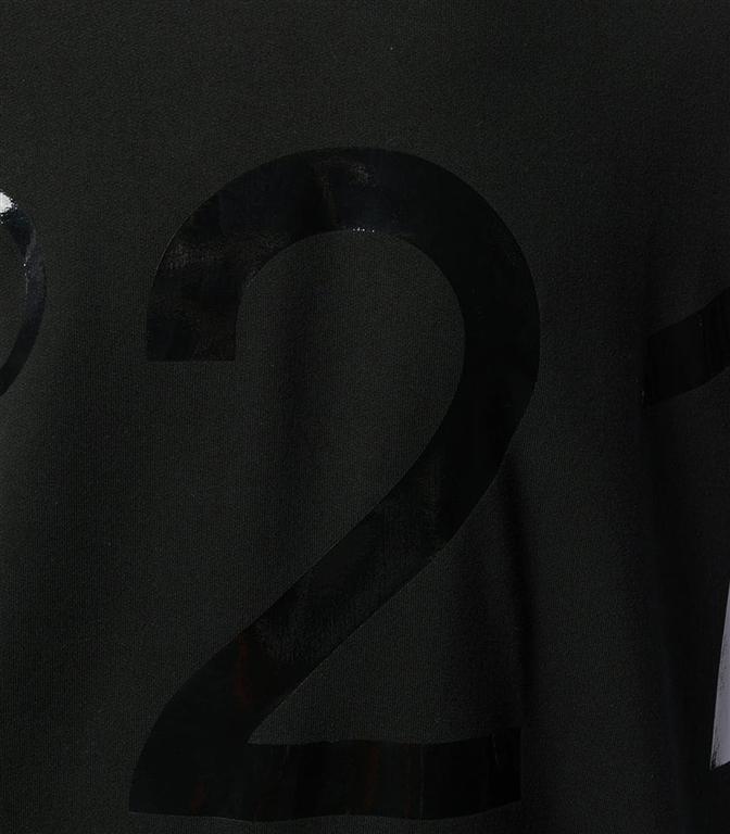 N°21 - Felpe - felpa girocollo con logo lucido black 1