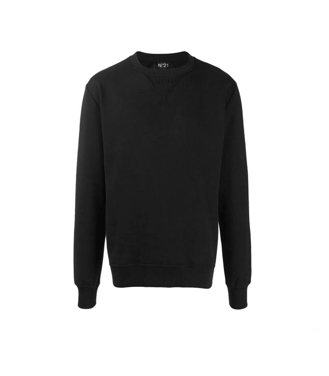 N°21 - Felpe - felpa girocollo con logo black