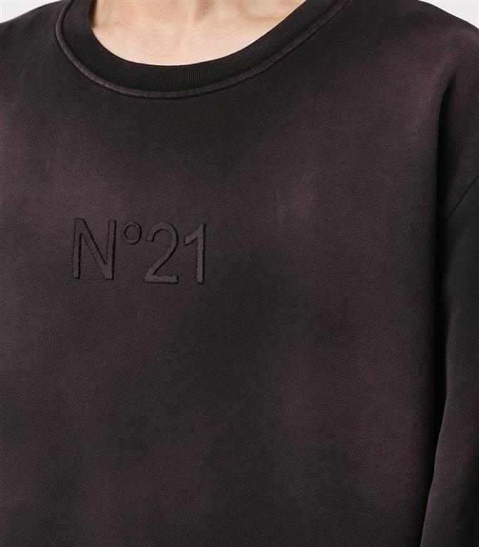 N°21 - Felpe - felpa girocollo con logo red/black 1