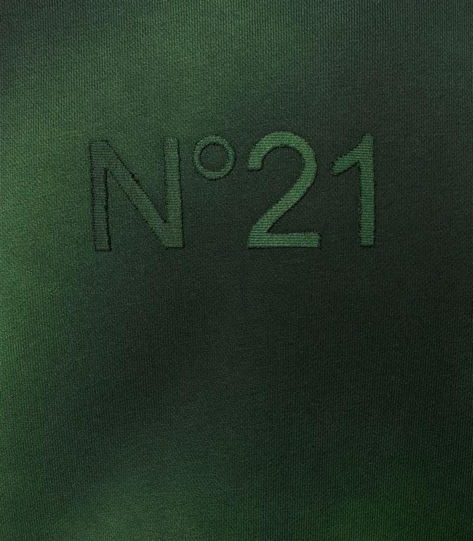 N°21 - Felpe - felpa girocollo con logo green/black 1