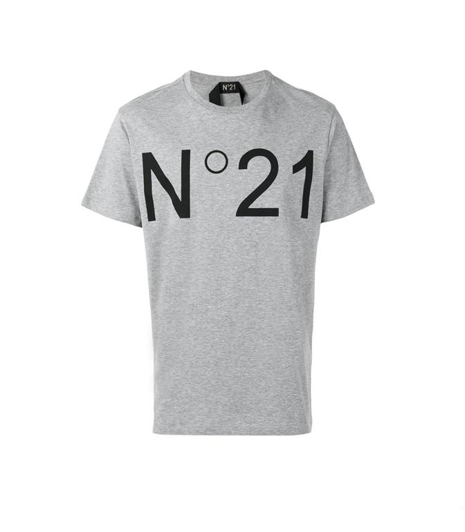 N°21 - T-Shirt - T-SHIRT CON LOGO GREY
