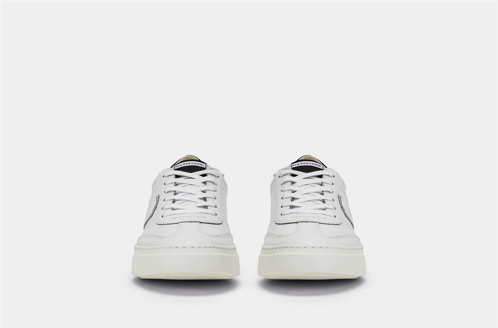 Philippe Model - Scarpe - Sneakers - temple - veau blanc noir 1