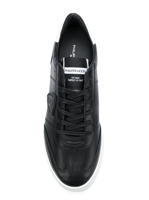 Philippe Model - Scarpe - Sneakers - temple - veau noir blanc 1