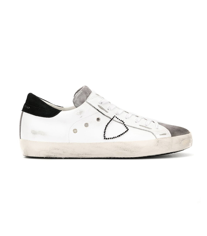 Philippe Model - Scarpe - Sneakers - PARIS - MIXAGE BLANC ANTRACITE