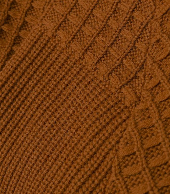 Roberto Collina - Maglie - waffle vanisé sweater cognac 1
