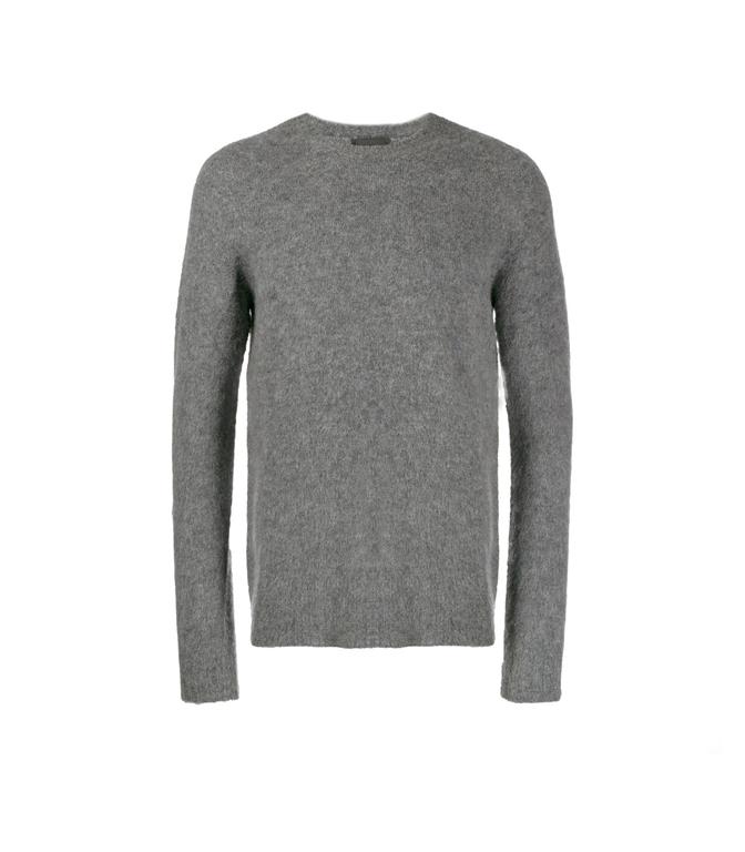 Roberto Collina - Maglie - brushed sweater grigio