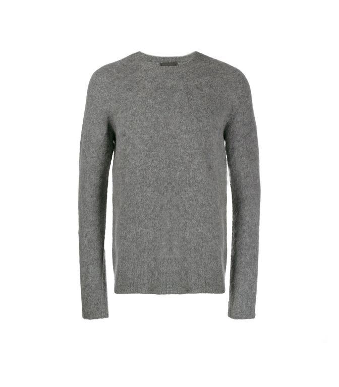 Roberto Collina - Maglie - BRUSHED SWEATER GRIGIO