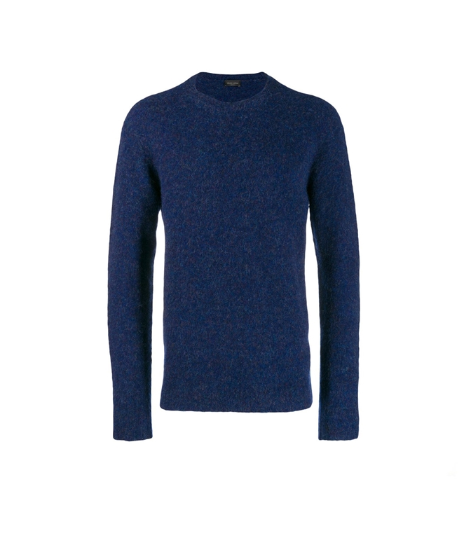 Roberto Collina - Maglie - BRUSHED SWEATER VIOLA