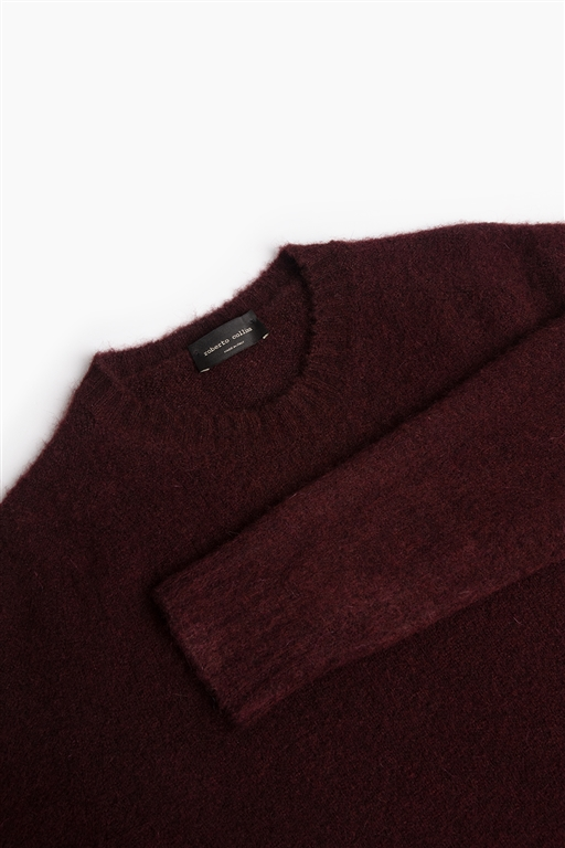 Roberto Collina - Maglie - brushed sweater bordeaux 1