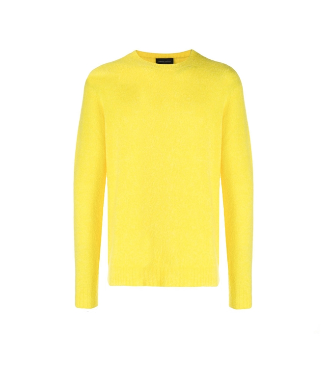 Roberto Collina - Maglie - BRUSHED SWEATER GIALLO