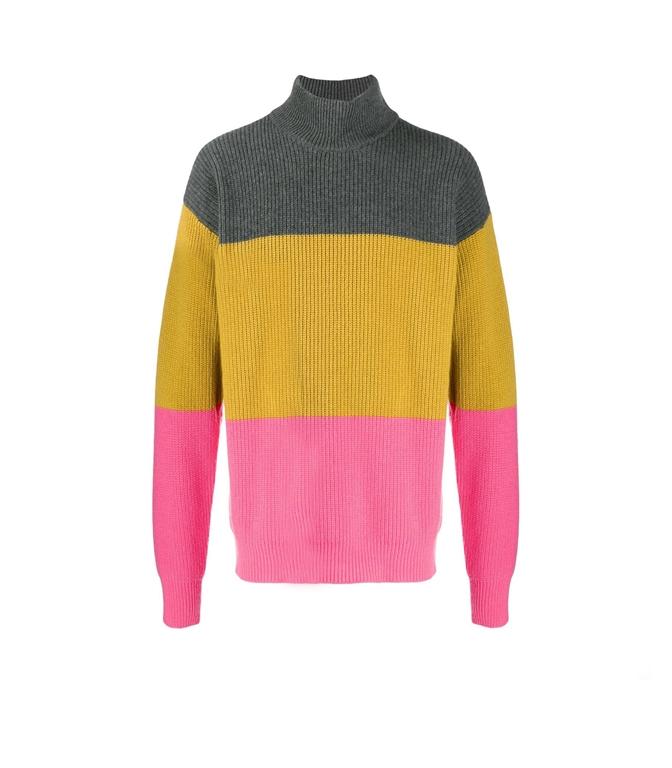 Roberto Collina - Maglie - colour blocl sweater rose