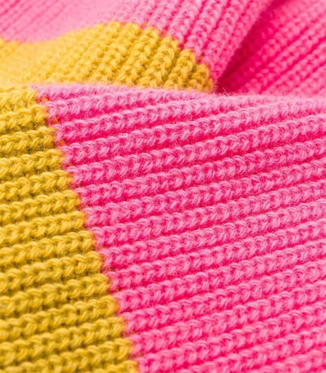 Roberto Collina - Maglie - colour blocl sweater rose 1