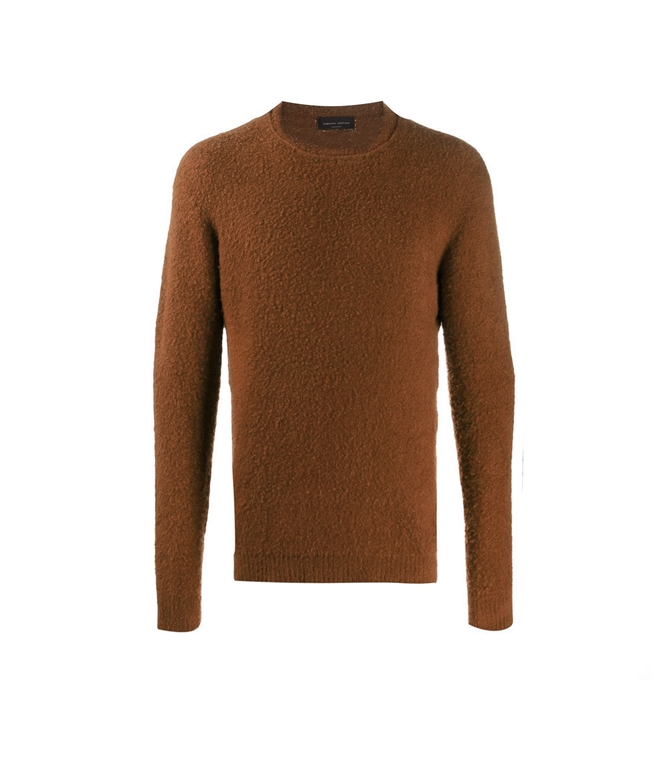 Roberto Collina - Maglie - boucle' sweater cognac