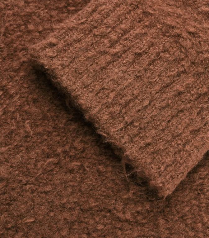 Roberto Collina - Maglie - boucle' sweater cognac 1