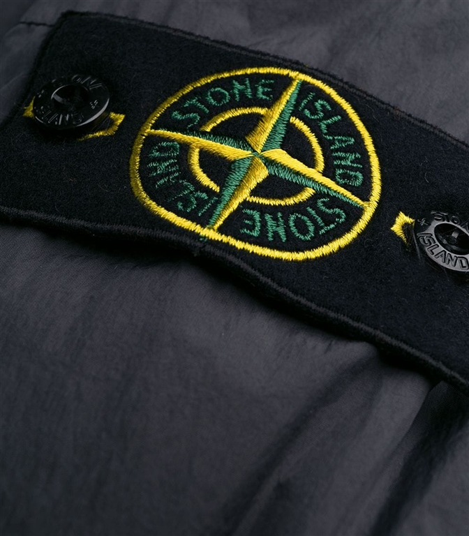Stone Island - Giubbotti - garment dyed crinkle reps ny down fumo 1