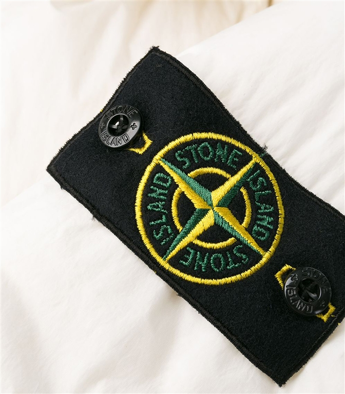 Stone Island - Giubbotti - garment dyed crinkle reps ny down bianco naturale 1
