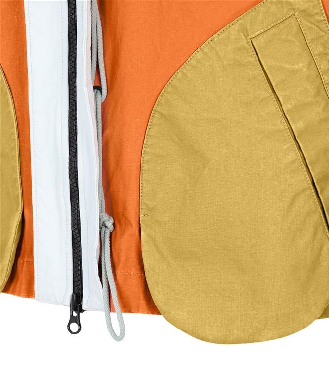 Stone Island - Giubbotti - tela placcata bicolore arancio 1
