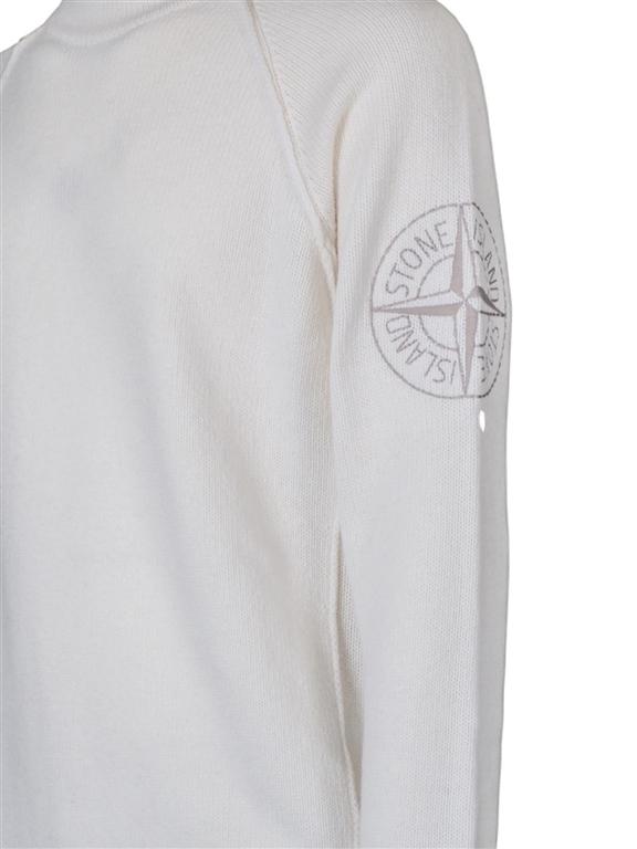 Stone Island - Maglie - maglia girocollo bianca 2
