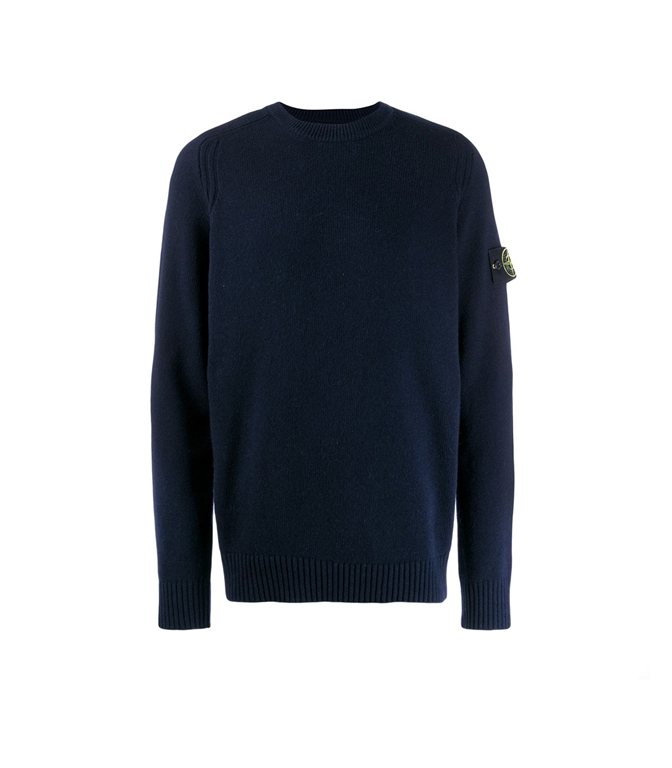 Stone Island - Maglie - maglia in lana girocollo blu
