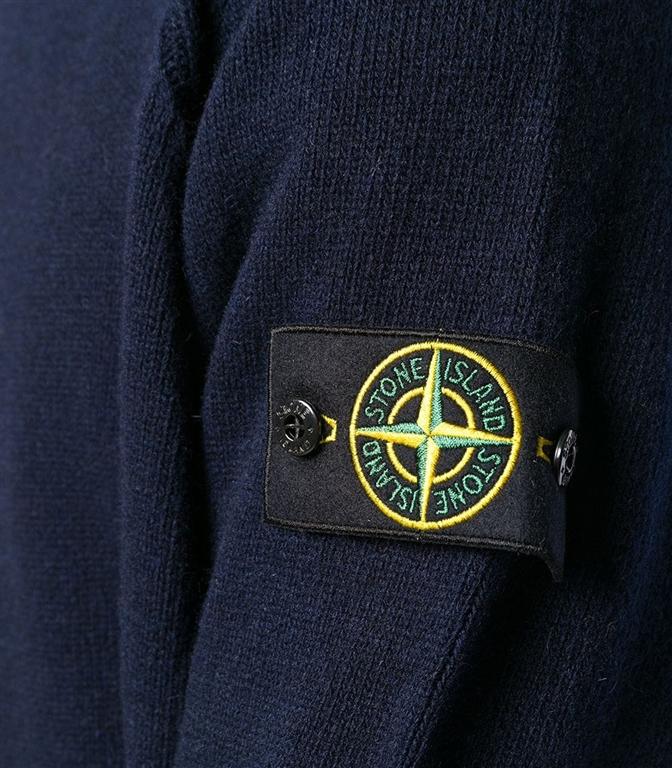 Stone Island - Maglie - maglia in lana girocollo blu 1