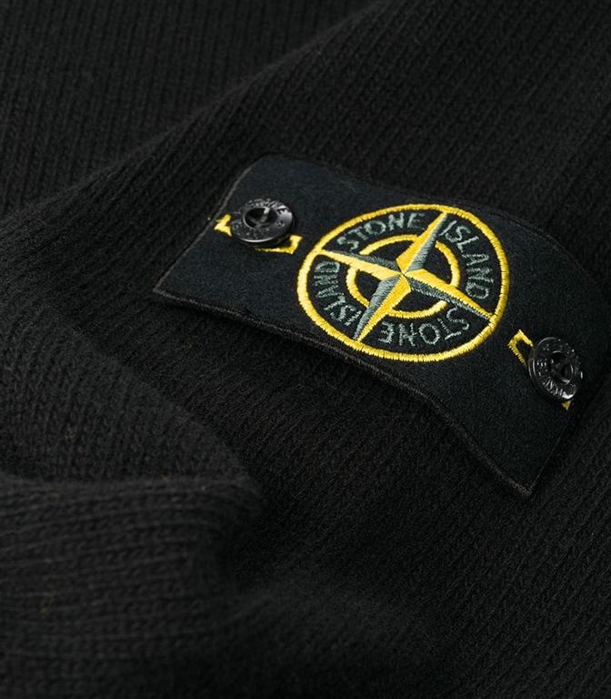 Stone Island - Maglie - maglia in lana girocollo nera 1