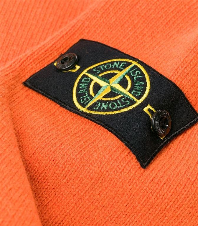 Stone Island - Maglie - maglia in lana girocollo arancio 1