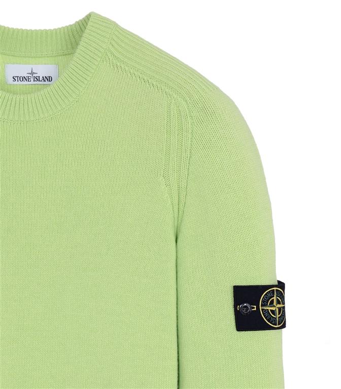 Stone Island - Maglie - maglia in lana girocollo pistacchio 1