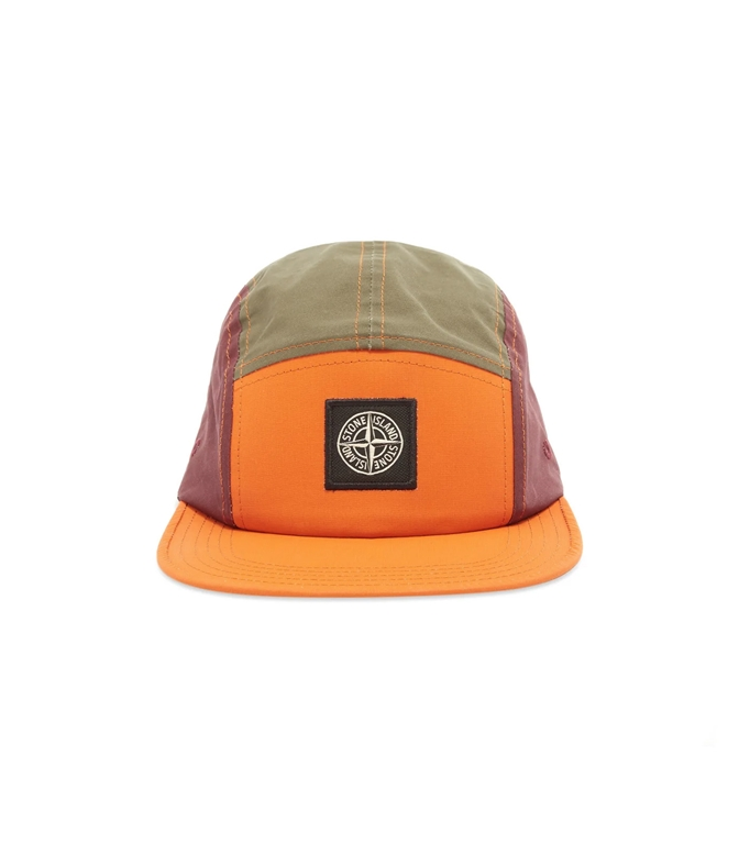 Stone Island - Cappelli - tela placcata bicolore arancio