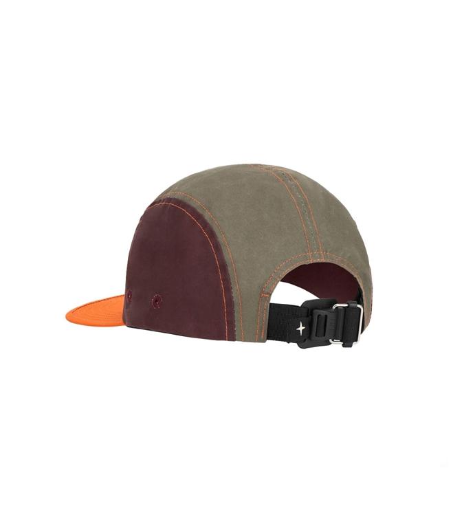 Stone Island - Cappelli - tela placcata bicolore arancio 1
