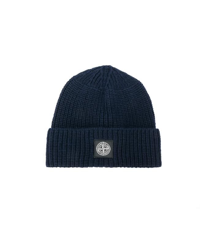 Stone Island - Cappelli - berretto in lana blu