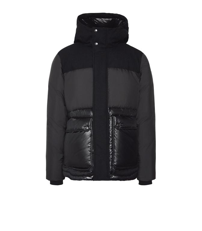 Woolrich - Giubbotti - intarsia mountain jacket black