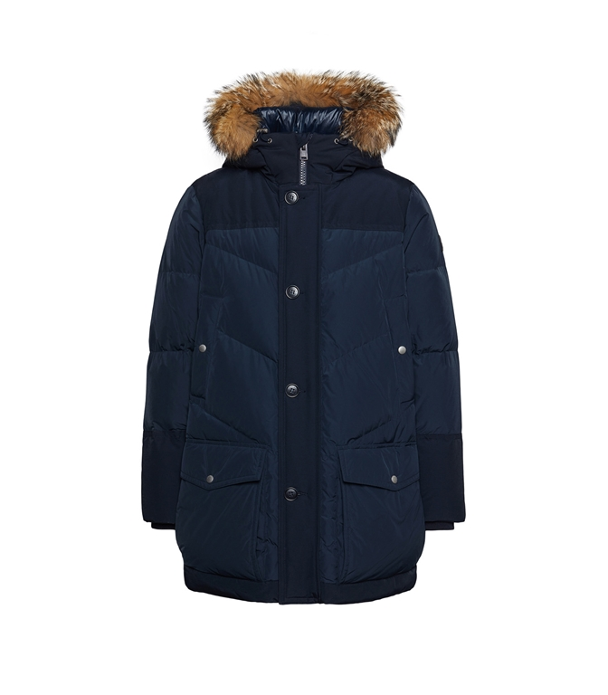 Woolrich - Giubbotti - logo arctic parka df melton blu