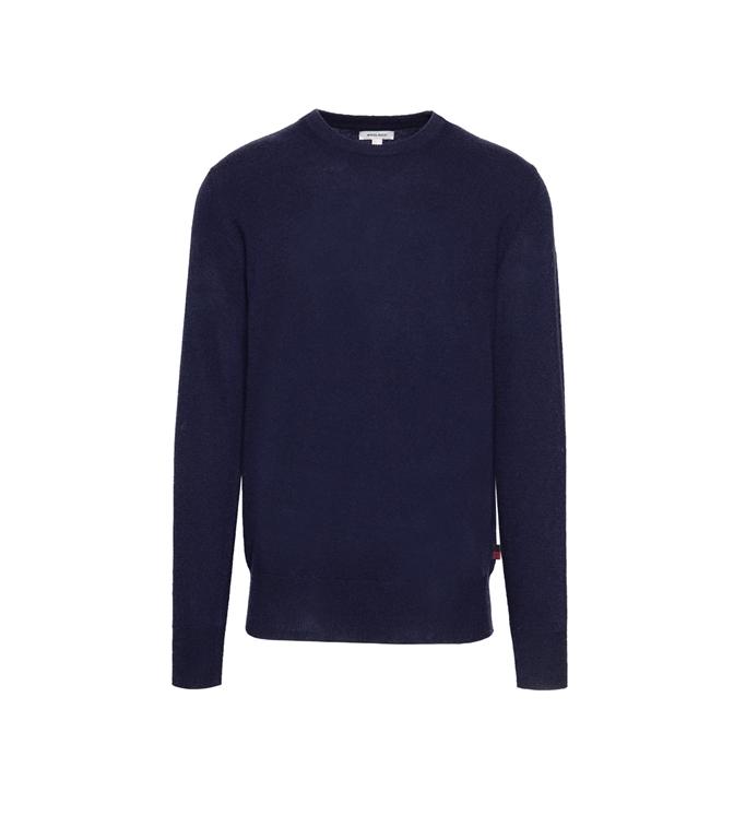 Woolrich - Maglie - supergeelong crewneck melton blu