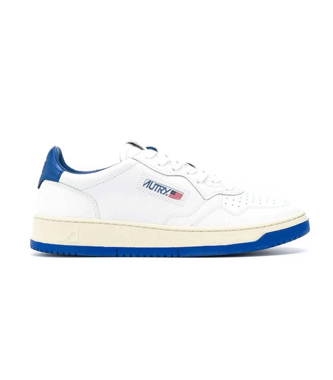 Autry - Scarpe - Sneakers - LOW BICOLOR LEAT BIANCA-BLU